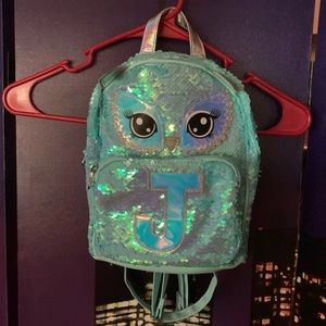 """Justice """"j"""" girls small backpack"""